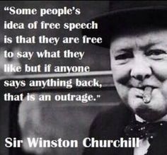 Free speech should go both ways in a conversation.  And keep it nice!!!  :)