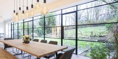 Crittall Windows are the British pioneers of light steel frame windows and today they continue to provide home-owners with an unrivalled traditional quality window that became synonymous with the Crittall name. Steel Windows, Steel Doors, House Windows, Windows And Doors, New Property Developments, Square Windows, External Doors, Dark Furniture, Double Glazed Window