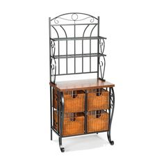 Amazon.com - SEI Iron/Wicker Baker's Rack - Free Standing Baker Racks