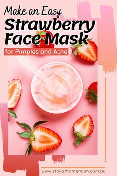 Even though I'm in my 40's now, the dreaded pimples have still not gone away!!!  With strawberries plentiful at the moment I've been trialling this – it does make your face feel tighter and cleaner…. we'll see in the long term.  It certainly smells good enough to eat!! Pimple Mask, Face Mask For Pimples, Diy Beauty, Beauty Skin, Strawberry Face Mask, Beauty Regime, Good Enough To Eat, Smell Good, Strawberries