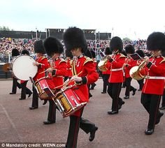 Marching bands on The Mall.  ........Queens Diamond Jubilee 2012
