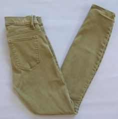 Gap 1969 True Skinny Jeans 26 2 Green Temporal Olive Green Stretch Denim 2016 #GAP #LeggingsSlimSkinny
