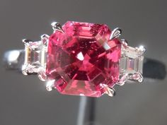 Loose Mahenge Spinel | Asscher Cut Mahenge Spinel | Pink Gemstone