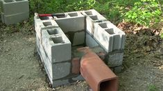 How-To Build a Smokehouse (Part 2 - Flue Pipe and Building Blocks)