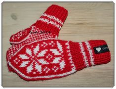 Hjerte GO`H Design: Selbu-votter til barn Norwegian Knitting, H Design, Baby Knitting, Mittens, Baby Kids, Barn, Crochet, Handmade, Norway
