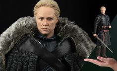 Game of Thrones Brienne of Tarth Deluxe Version Sixth Scale Game Of Thrones Brienne, Brienne Of Tarth, Cersei Lannister, Game Of Thrones Collectibles, Jon Snow, Fur Coat, Actors, Sideshow, Scale