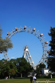 Vienna Prater, Amusement Park, Ferris Wheel, one of Vienna's most famous symbols Vienna Prater, Navy Pier Chicago, Ferris Wheels, How To Level Ground, Amusement Park, My Ride, Light Colors, Worlds Largest, Fair Grounds