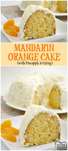 Mandarin Orange Cake with Pineapple Frosting is so light and. Mandarin Orange Cake with Pineapple Frosting is so light and refreshing and is the perfect cake for summer (or any other time too)! Cookie Desserts, Easy Desserts, Delicious Desserts, Yummy Treats, Sweet Treats, Bunt Cakes, Cupcake Cakes, Orange Recipes, Sweet Recipes