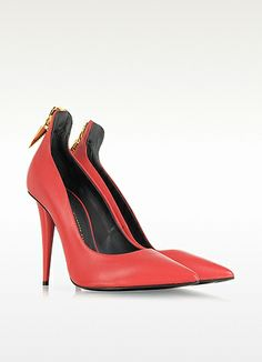Giuseppe Zanotti Zip Red Leather Pump..i so want..no, Need these!...