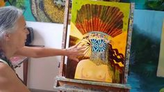 dea Astarte e il suo terzo occhio olio su tela - Pier