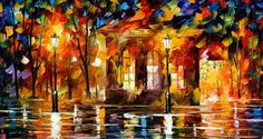 """Flames Of Happiness"" by Leonid Afremov ___________________________ Click on the image to buy this painting ___________________________ #art #painting #afremov #wallart #walldecor #fineart #beautiful #homedecor #design"