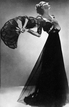 Fashion study by Man Ray, 1936, Dress by Mainbocher.