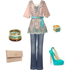 A fashion look from March 2012 featuring pink shirt, blue jeans and marc jacobs handbags. Browse and shop related looks.