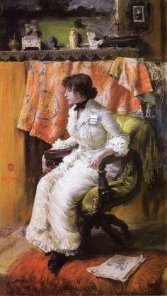 In the Studio (also known as Virginia Gerson) William Merritt Chase - circa 1884