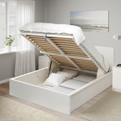 Malm Storage Bed White regarding proportions 2000 X 2000 White Malm Dresser In Bedroom - If it really is time to suit your needs to buy a innovative New Swedish Design, Bed Frame With Storage, Ikea Storage Bed Hack, Ottoman Storage Bed, Diy Bedframe With Storage, Best Storage Beds, Ikea Bed Hack, Storage Ideas, Ikea Ikea
