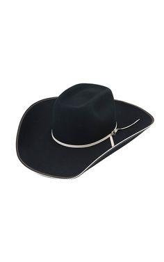 3b350bbc7ab Resistol 4X Snake Eyes Black Brick Felt Cowboy Hat