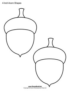 Print these free acorn shapes / acorn templates for your elementary school classroom. Choose from 6 different acorn printables for kids. Applique Templates, Applique Patterns, Craft Patterns, Quilt Patterns, Print Templates, Applique Designs, Autumn Crafts, Thanksgiving Crafts, Holiday Crafts