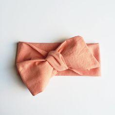 Coral Organic Cotton Headwrap / Infant Headwrap / Baby Headwrap / Toddler Headwrap