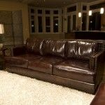 Elements Fine Home Furnishings - Emerson Top Grain Leather Sofa - EME-S-SADD-1-NH025  SPECIAL PRICE: $1,369.99