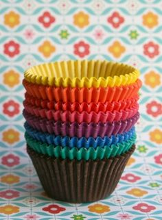 Love rainbows! These would be good with these cupcakes: http://bakingbites.com/2009/05/rainbow-cupcakes/