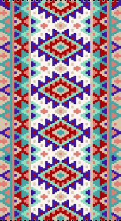 Two-Drop Peyote Stitch Bracelet Beading Pattern - Summer Trimmings
