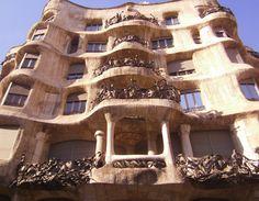"Antoni Gaudi's design ""La Petrera"" constructed 1905-10....Barcelona, Spain 2011"