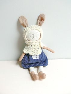 Stuffed Bunny Toy, Dress up Doll - COCO