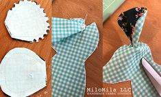 Sewing the Mouse from the Heather Ross Trixie Fabric Mouse Panel