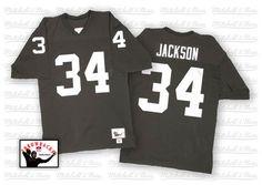 Bo Jackson Black Team Color Authentic Throwback Jersey Football Boots b6a2b4b0b
