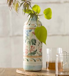 Cylinder Majolica Vase in Home Accents