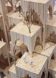 Student architectural exhibition in Spiral Market, Aoyama (paper store).