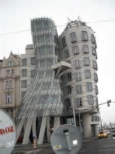warped building in Prague
