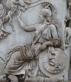 Detailof the column base of the Ancient Roman Column of Antoninus Pius.161 AD