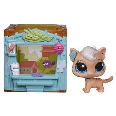 Amazon.com: Littlest Pet Shop Mini Style Set with Meow Meow Milkone Figure: Toys & Games