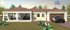 Overall Dimensions- x mBathrooms- 2 Car GarageArea- Square meters Building Costs, Guest Toilet, Contemporary House Plans, Guest Bed, Garages, Home Collections, Bedrooms, New Homes, Outdoor Structures