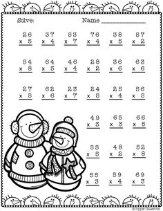 Need extra practice with multiplication? This set includes 10 pages of 2 digit by 1 digit multiplication with regrouping practice. An answer key for each page is included. Thanks for stopping by Copper Classroom. Two Digit Multiplication, Math Multiplication Worksheets, Math Stations, Math Centers, Learning Activities, Teaching Resources, Teacher Tools, Addition And Subtraction, Elementary Math