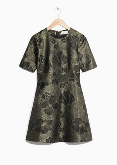 & Other Stories image 1 of Metallic Jacquard Dress in Black