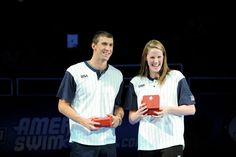 Image detail for -OMAHA, NE - JULY Michael Phelps and Missy Franklin react after receiving their Omega watches for Male and Female swimmer of the meet after day eight of the 2012 U. Olympic Swimming Team Trials at Famous Swimmers, Female Swimmers, Missy Franklin, Olympic Swimming, 2012 Summer Olympics, Sports Awards, Keep Swimming, Michael Phelps, Lady And Gentlemen