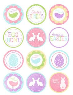 Free Easter Printable Cupcake Wrapper and Toppers