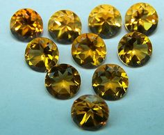 Masterpiece Natural Hot Africa Golden Citrine 5 MM Cut Round Loose Gem AAA