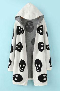 Skull Cap Collar Sweater