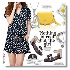 """""""Cute Jumpsuit"""" by sans-moderation ❤ liked on Polyvore featuring Spring and cute"""