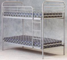 Gala Metal Bunk Bed A good strong silver finish metal kids bunk bed frame Ottoman Storage Bed, Bed Storage, Kids Mattress, Metal Bunk Beds, Kids Bunk Beds, Best Build, Childrens Beds, Steel Rod, Guest Bed