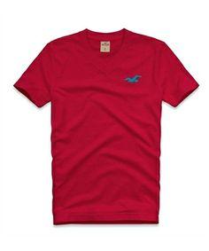 be8bb5951 Camiseta Hollister Masculina HIDDEN HILLS - Vermelha - Figo Verde - Roupas  importadas originais. Roupas