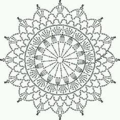 Ideas Crochet Mandala Shawl Doily Patterns For 2019 Motif Mandala Crochet, Crochet Doily Diagram, Crochet Circles, Crochet Doily Patterns, Crochet Round, Crochet Chart, Crochet Squares, Crochet Home, Crochet Doilies