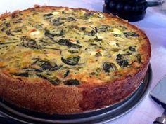 kesäkurpitsa-pinaatti-fetapiirakka / zucchini spinach and feta pie (gurmee) Grape Nutrition, Feta Cheese Nutrition, Savory Pastry, Savoury Baking, No Salt Recipes, Cooking Recipes, My Favorite Food, Favorite Recipes, Good Food