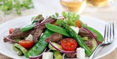 Biffsalat - kanskje enda bedre med spinat