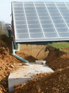 Building a Solar Greenhouse with the Subterranean Heating and Cooling System