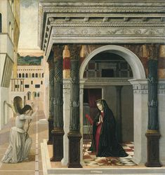 Bellini, Gentile The Annunciation 1465 end « Bellini Gentile « Artists « Art might - just art Renaissance Paintings, Renaissance Art, Renaissance Clothing, Grand Tour, Prado, The Annunciation Painting, Claude Joseph Vernet, Giovanni Bellini, National Gallery