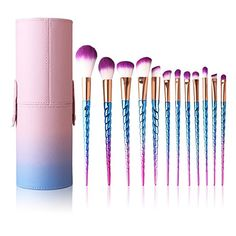 Makeup Brushes Set Colorful Unicorn 12Pcs It Cosmetics Concealer, Concealer Brush, Uk Makeup,